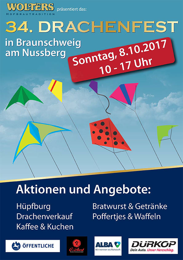 Plakat Drachenfest Braunschweig 2017