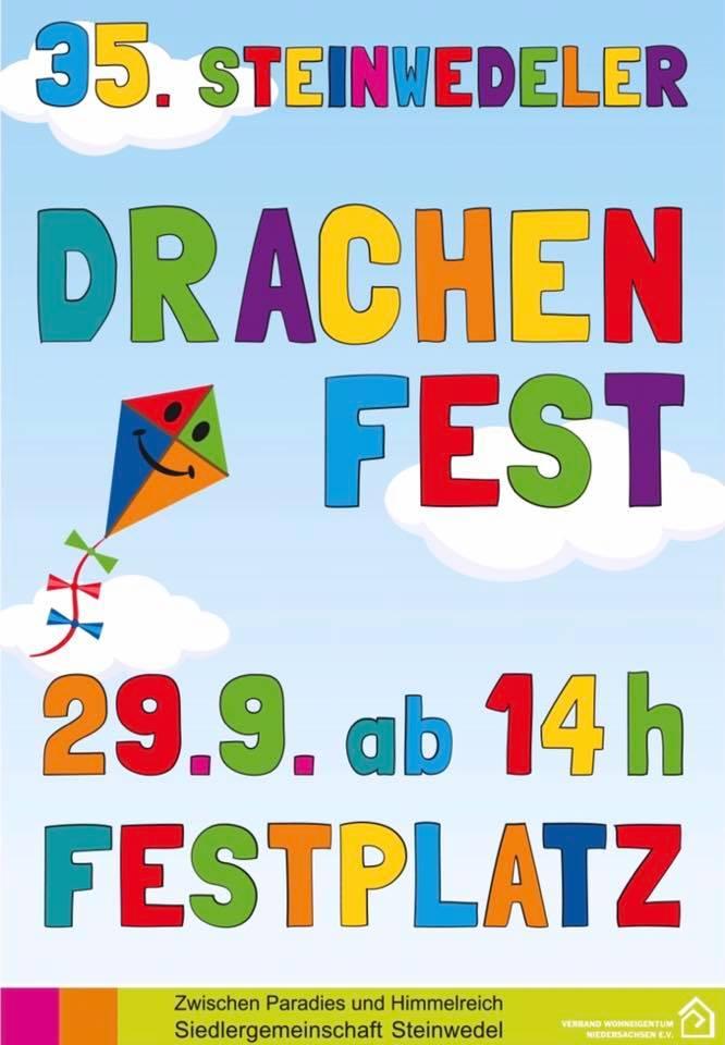 Plakat zum Steinwedeler Drachenfest