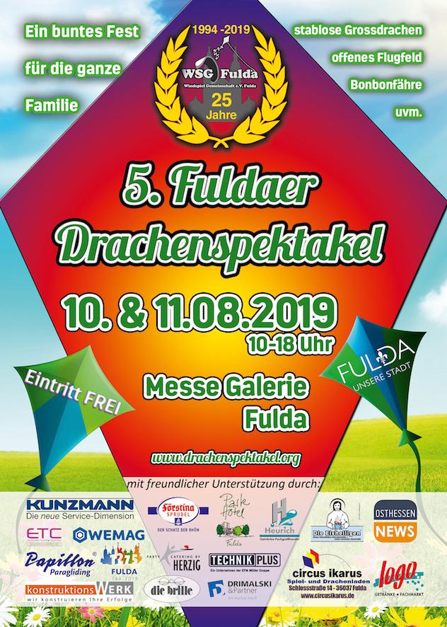 Fuldaer Drachenfest 2019 Plakat