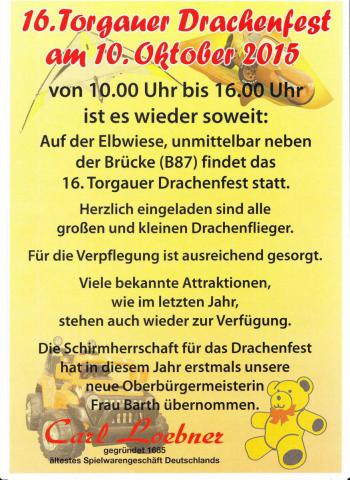 Drachenfest Torgau 2015