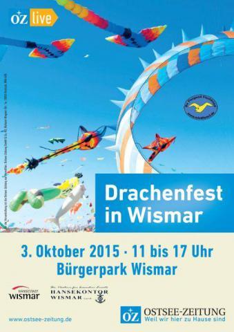 Flyer Drachenfest Wismar 2015